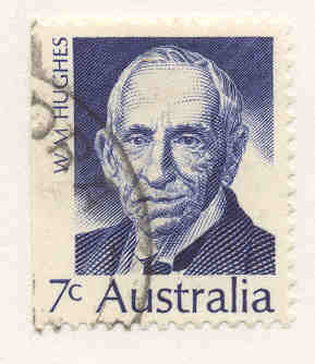 Billy Hughes on Australian Stamp